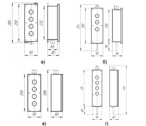 установочные размеры ПКУ 15-21